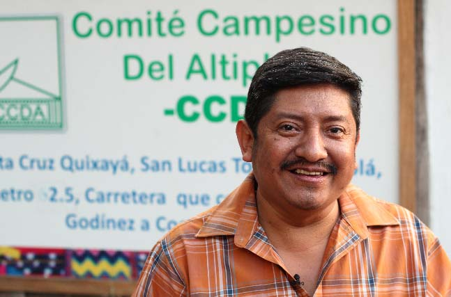 CCDA Manager Leocadio Juracan is a champion, promoting sustainable development and respect for the cultural identity of the 250 associated families.