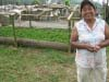 Rosa Edelia Niquinos, member of the Fondo Paez production committee, showed us her nursery of new rust-resistent trees.