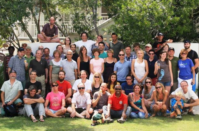 Roasters and staff get it together during our annual assembly - this 2012 gathering hosted by CC member AmaVida in Santa Rosa Beach, FL